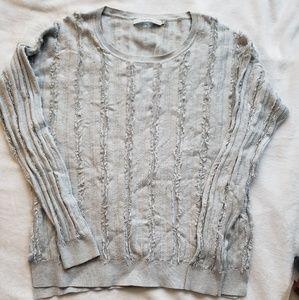 Stitch Fix Harper Lane Gray Distressed Sweater